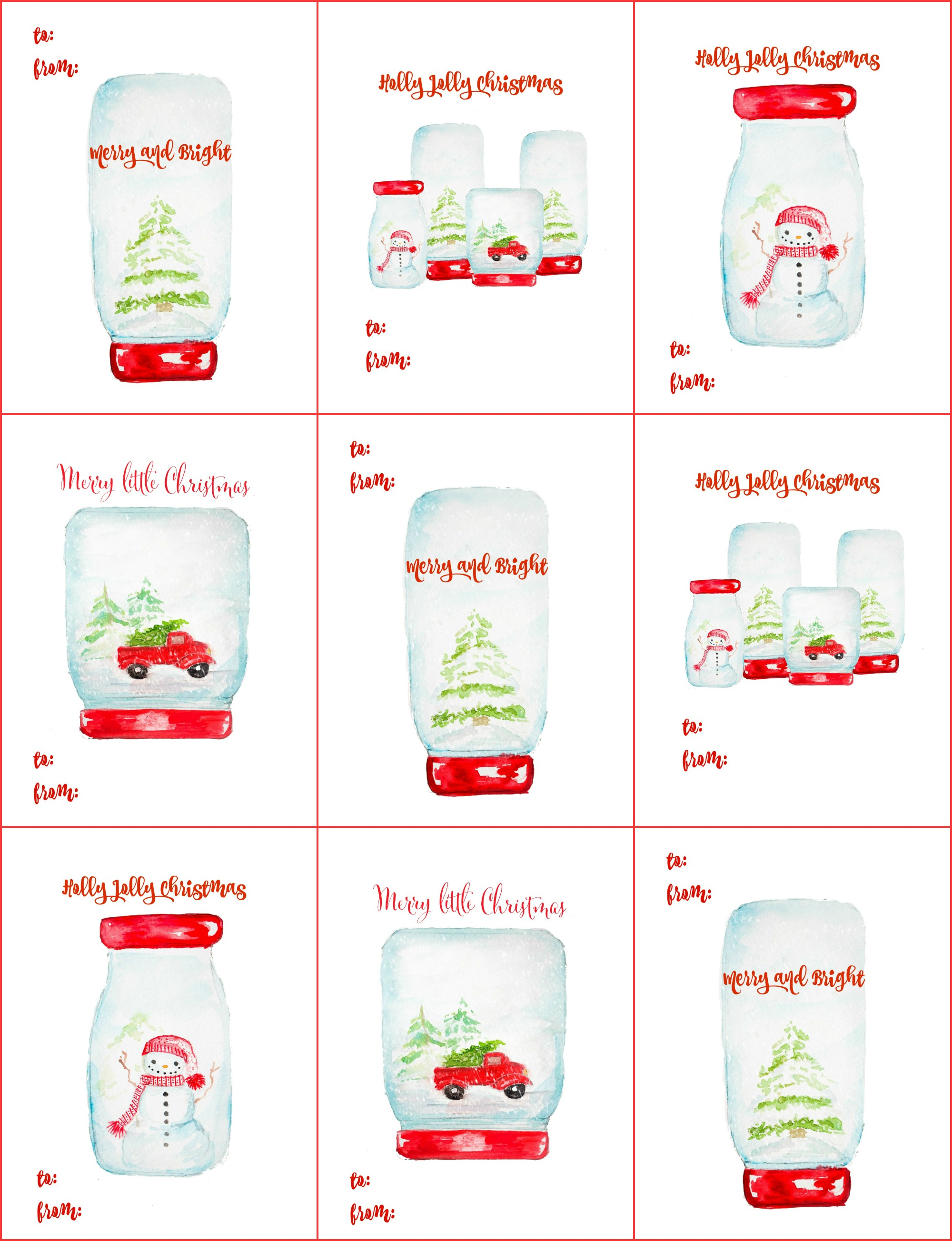 photo about Christmas Tags Printable titled Free of charge Xmas reward tag printables