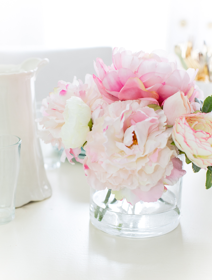 DIY Faux Water for Artificial Flowers