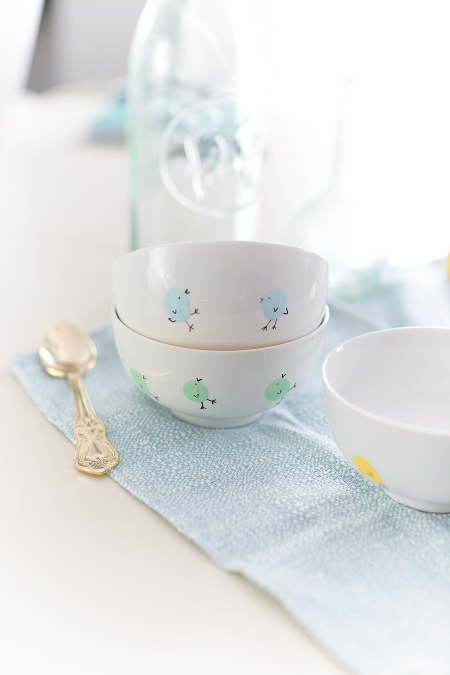Easter dinnerware DIY- Craftberrybush.com