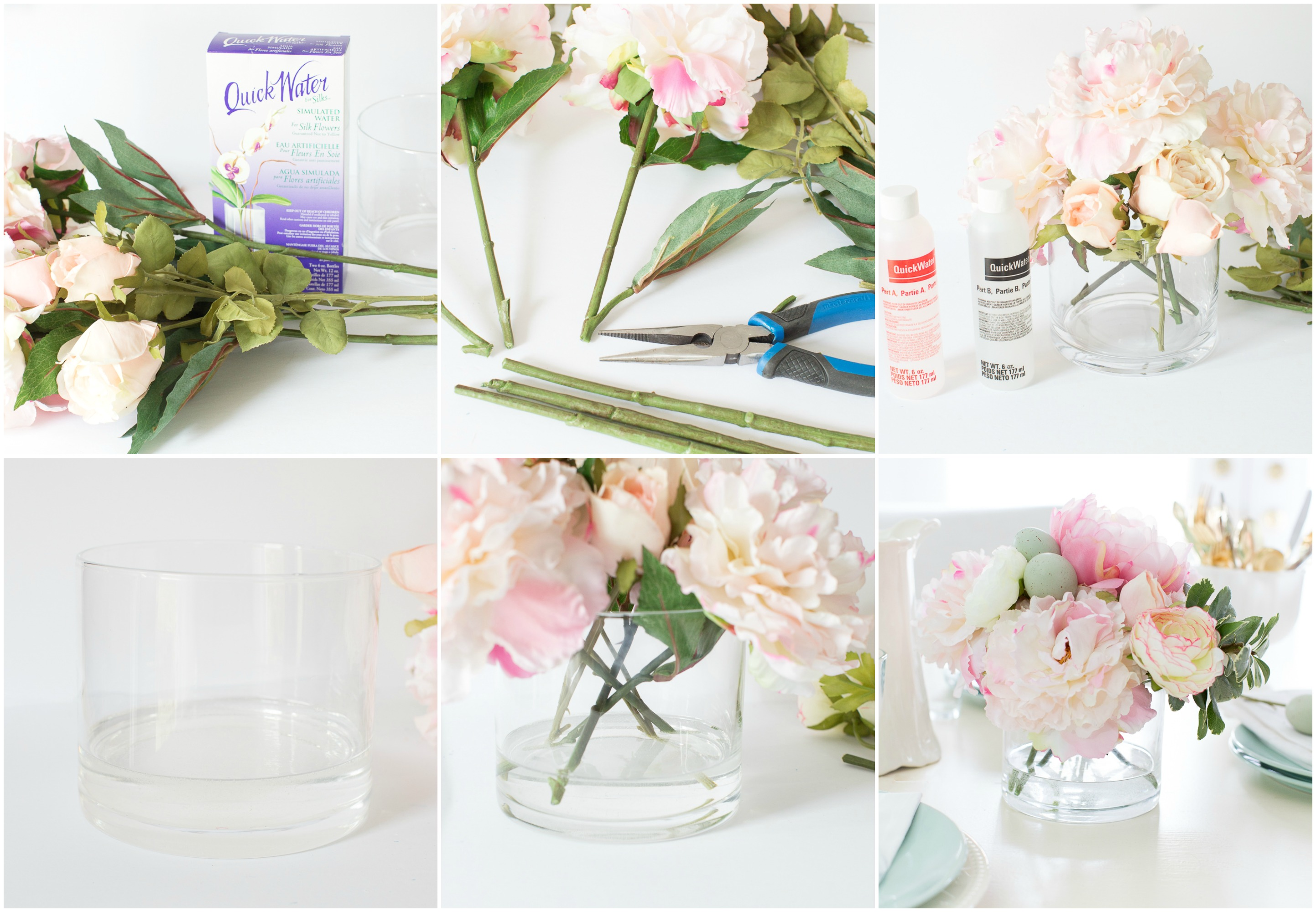 Diy faux water for artificial flowers fauxwaterforarticifialflowersdiy izmirmasajfo