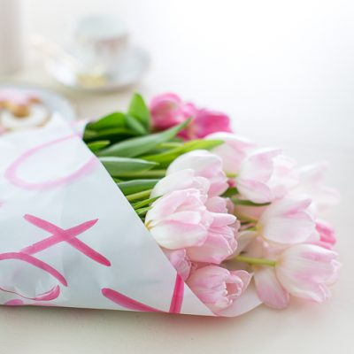 Easy Valentine's Floral Wrap