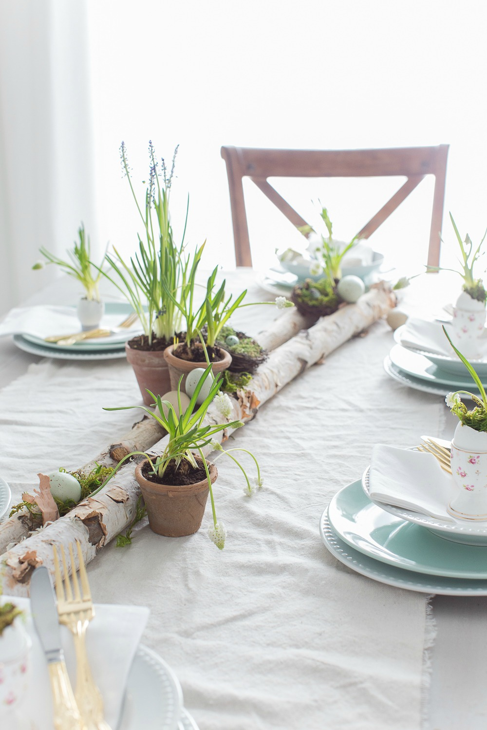 Easy easter table setting for Simple table setting