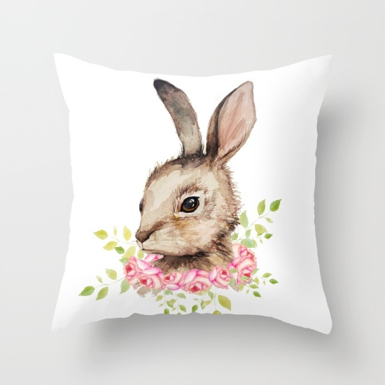 easter-bunny-with-flower-wreath-pillows