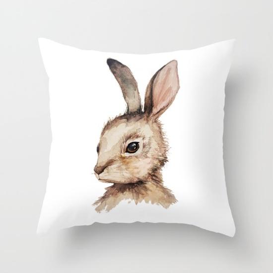 pensive-easter-bunny-pillows