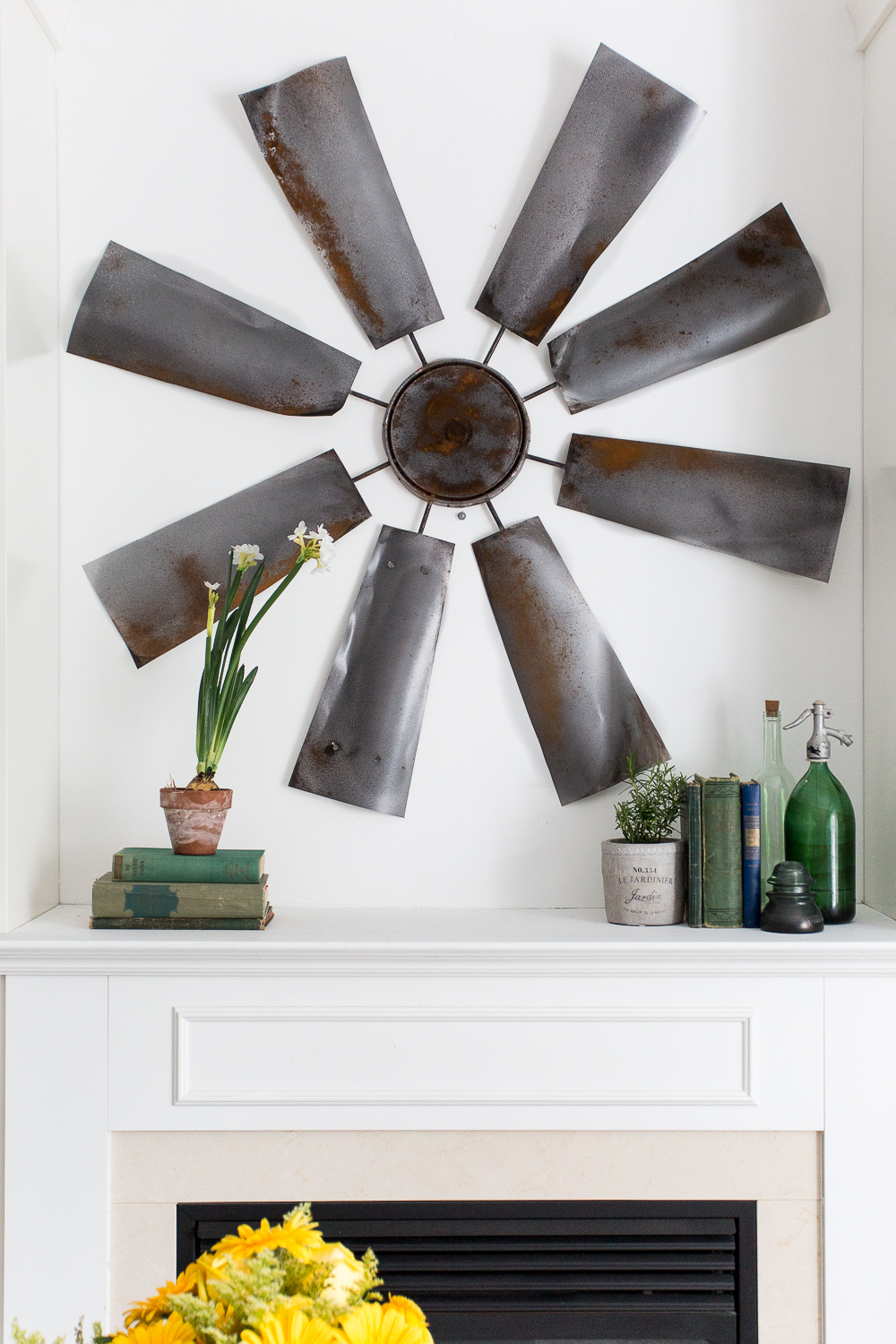 Fixer upper decor diy windmill for Home made decorative items