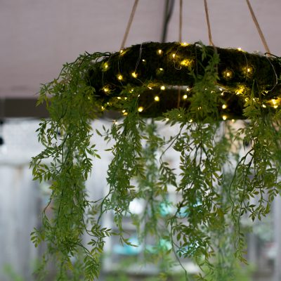Moss Chandelier Wreath DIY