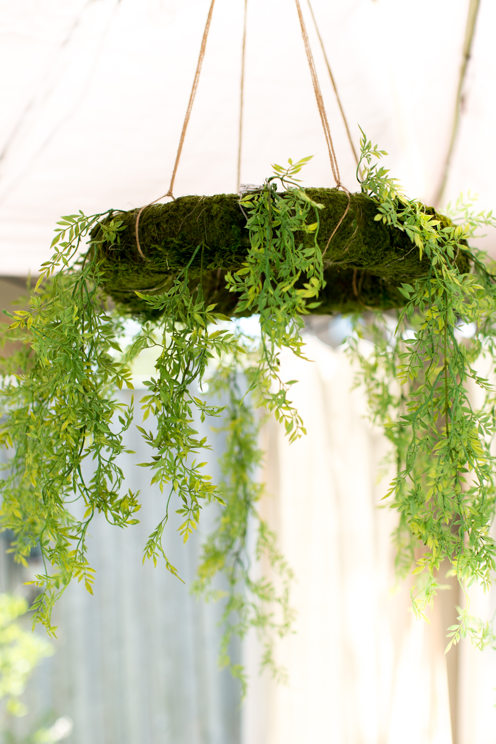 outdoor moss wreath chandelier  (1 of 1)