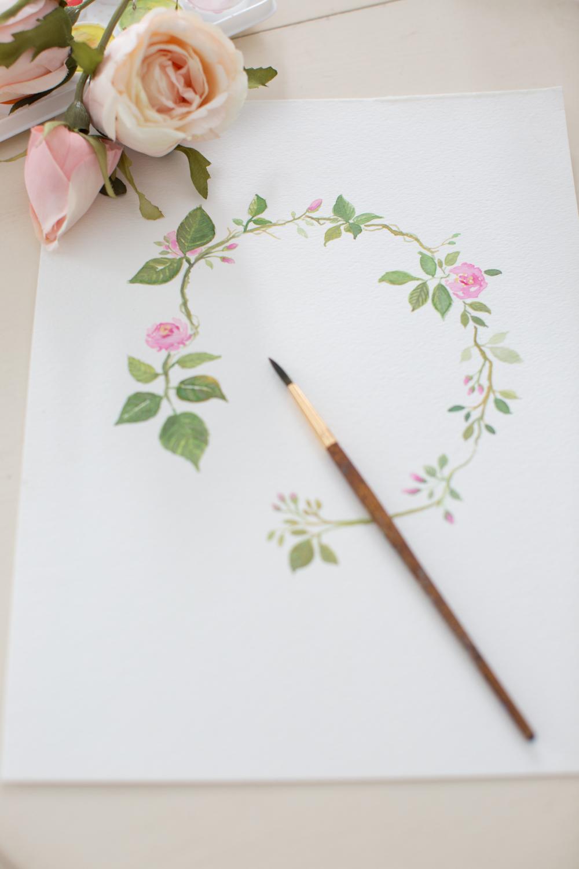 watercolorrosecrowncraftberrybush (2 of 3)
