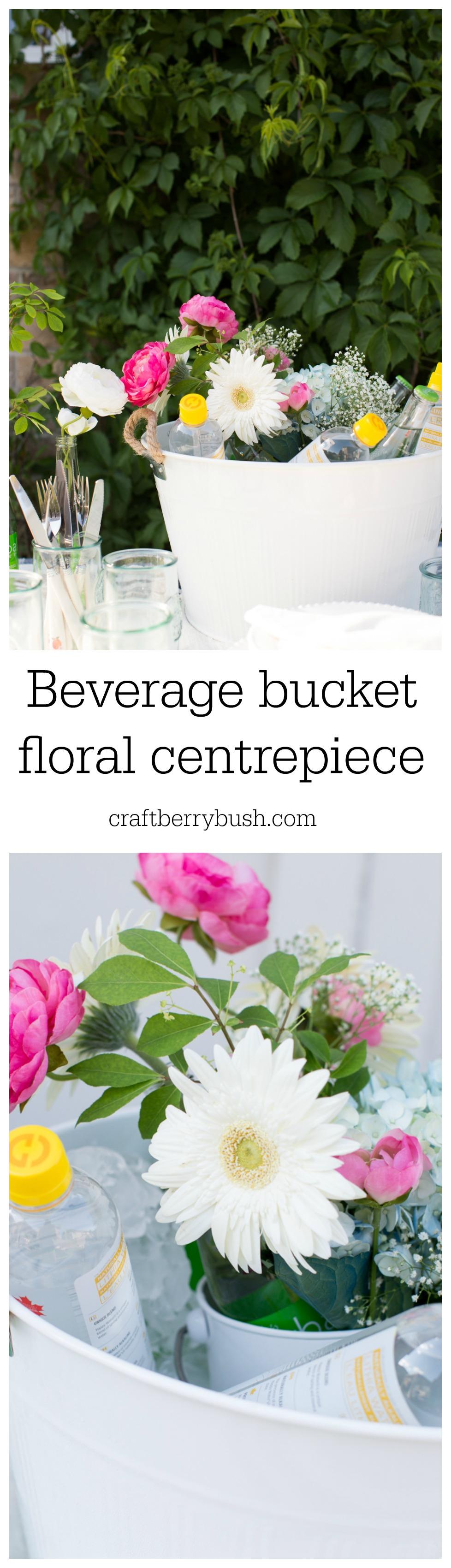 beverage bucket floral centerpiece craftberrybush