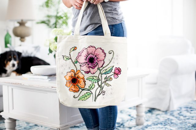 Coloring Page Tote Bag DIY