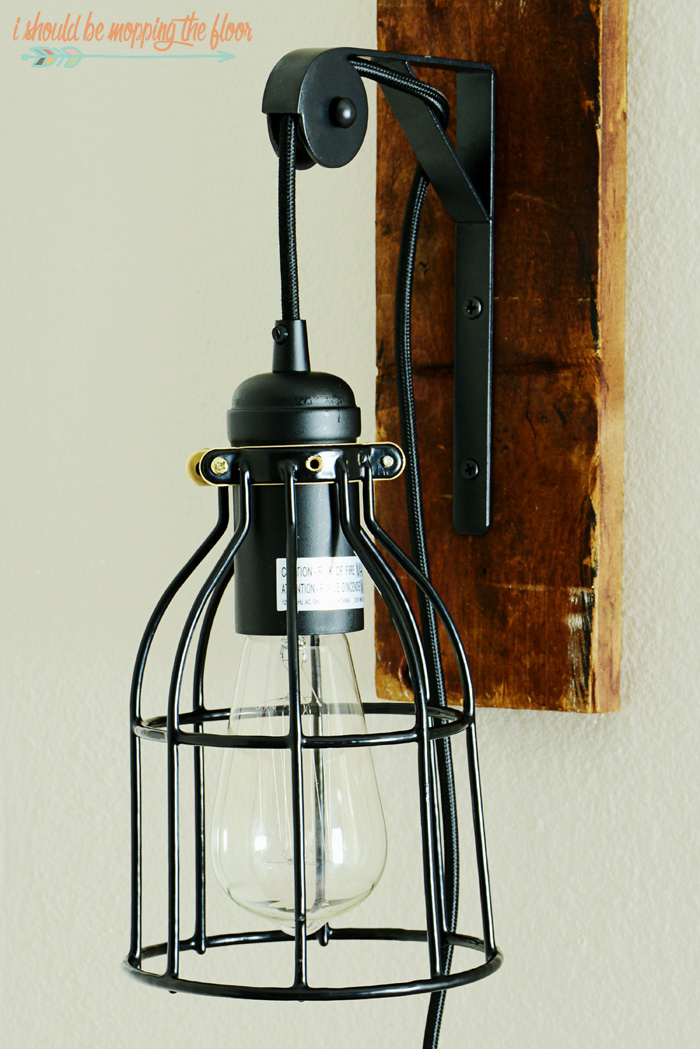 diy vintage light fixture