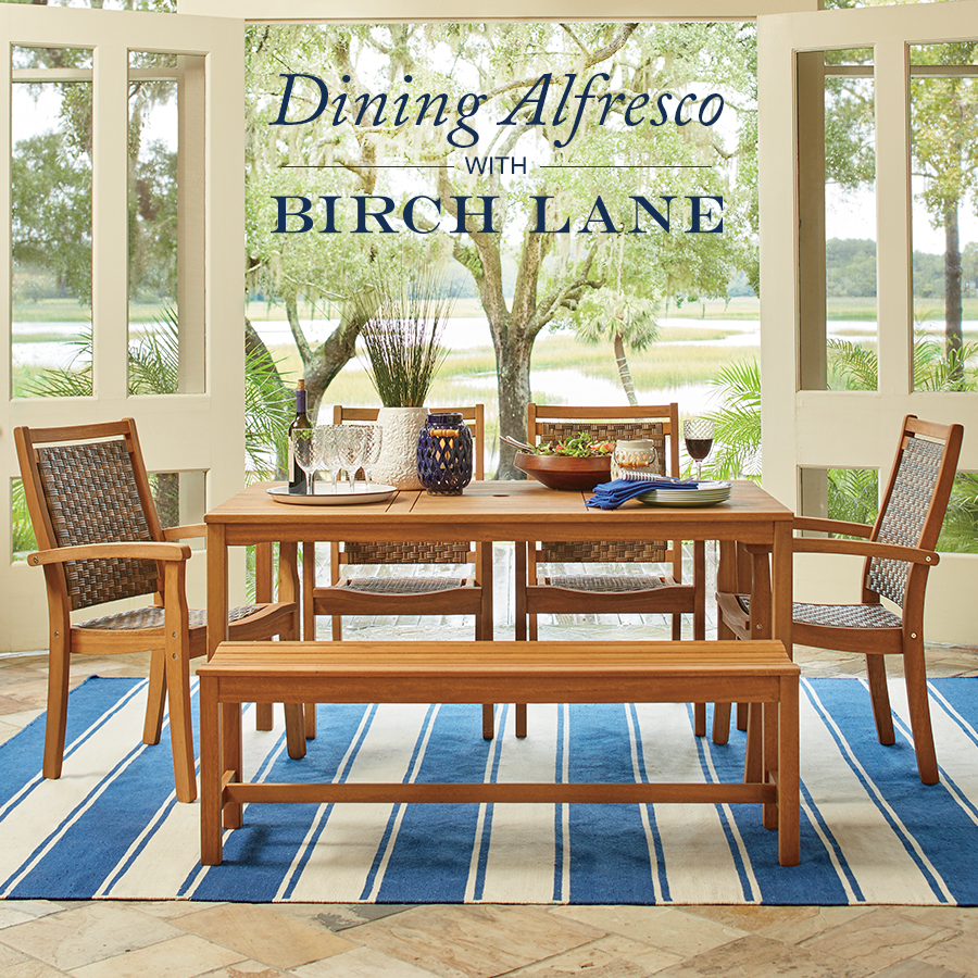 Dining Alfresco with Birch Lane