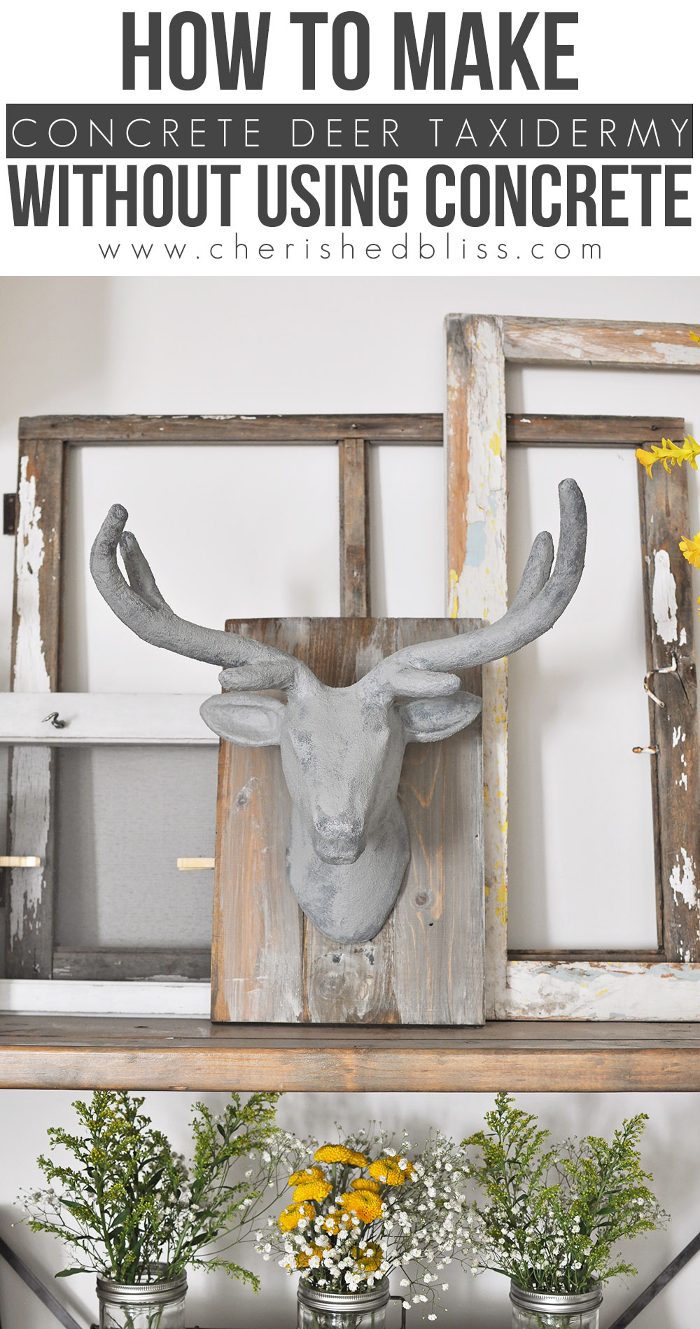 Faux-Concrete-Deer-Head-Taxidermy