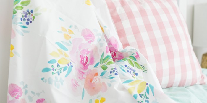 Watercolor fabric and wrapping paper