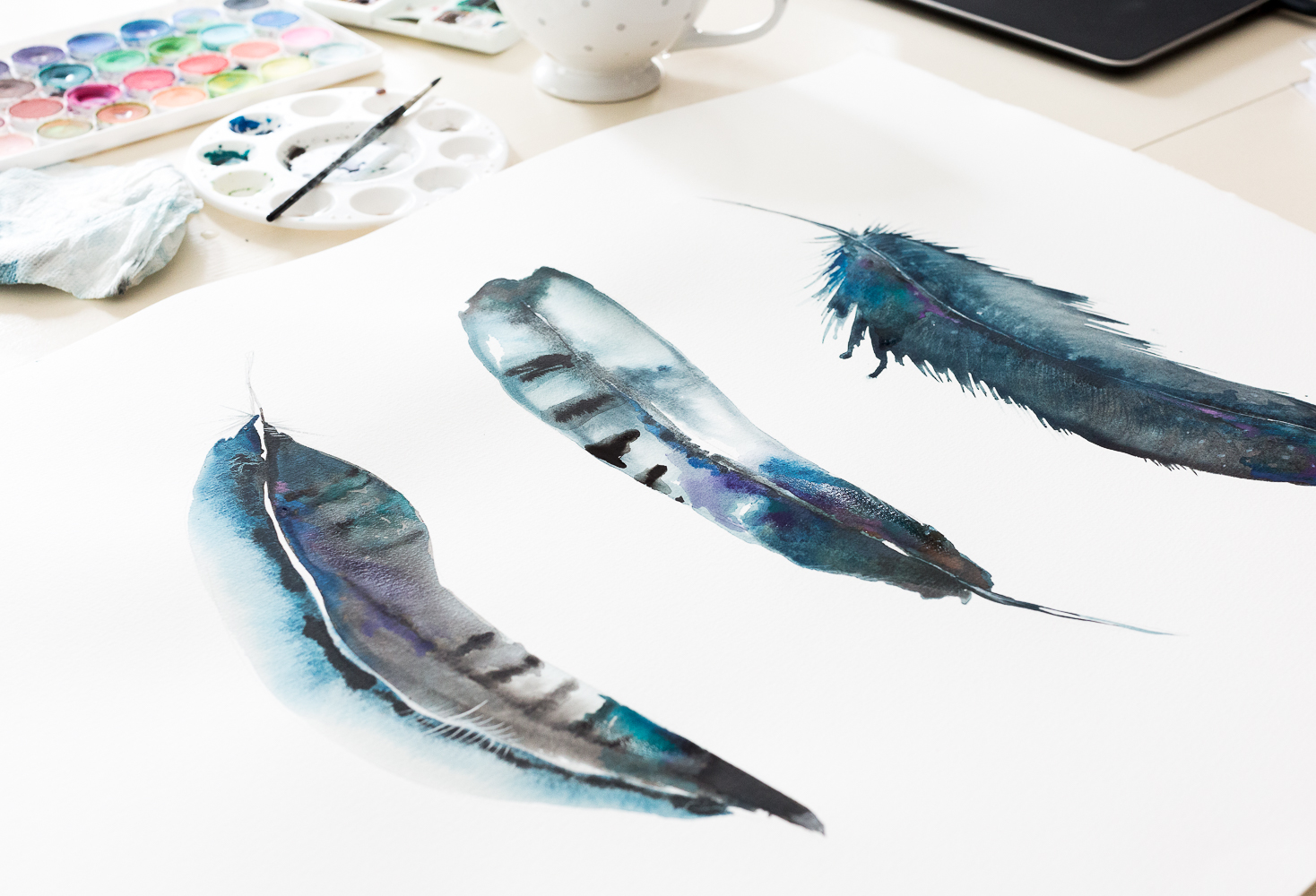 featherswatercolor