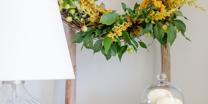Natural Fall Wreath DIY