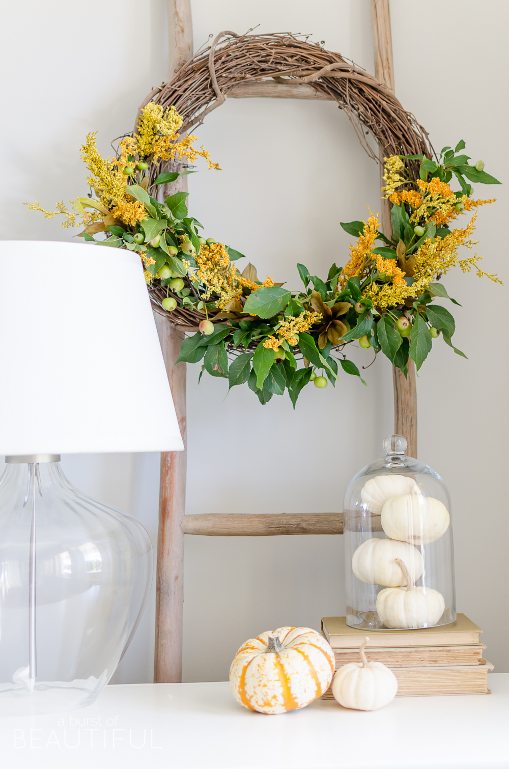Natural Fall Wreath DIY