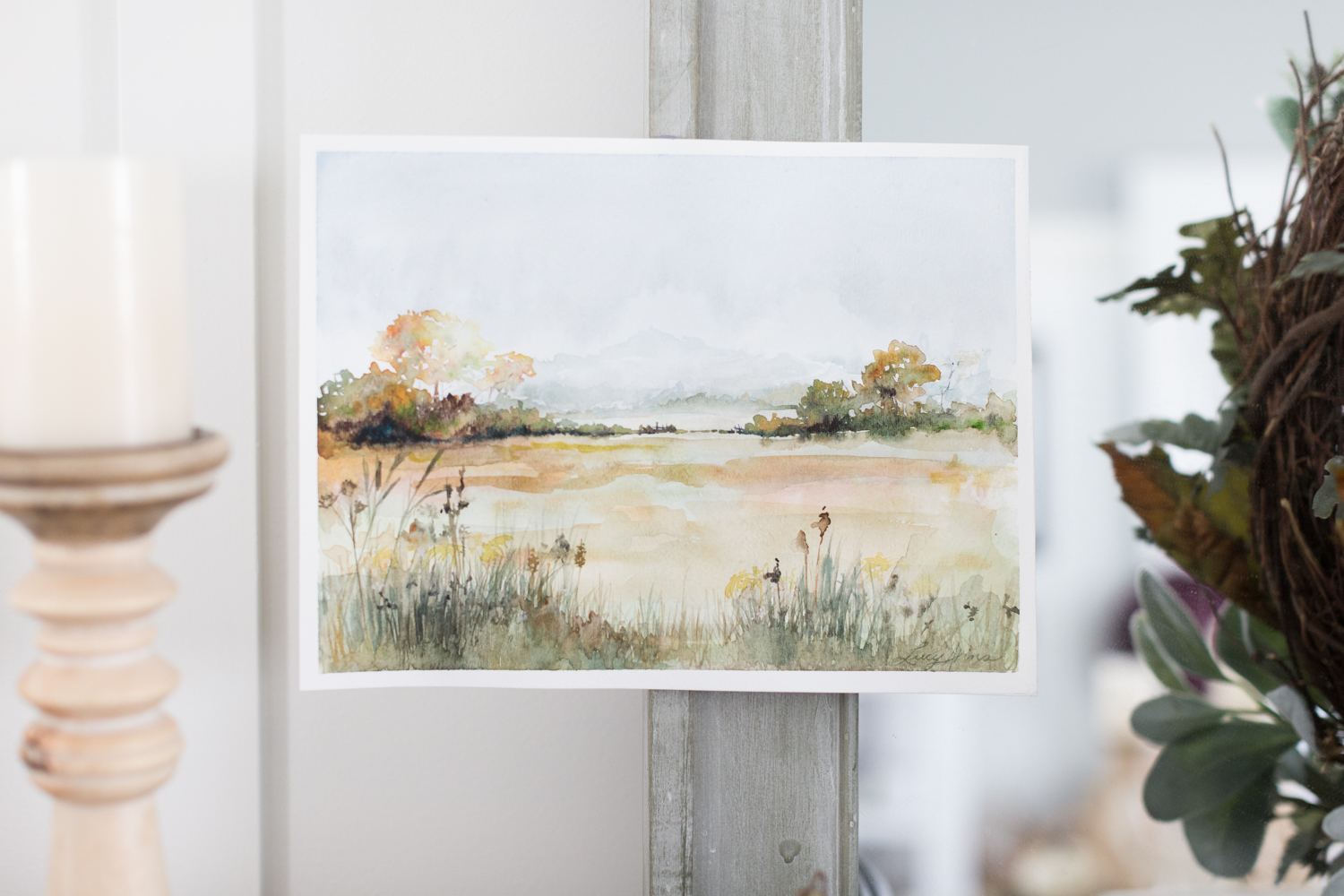 graphic regarding Free Printable Watercolor Pictures to Paint identify Watercolor Slide Landscape Totally free Printable