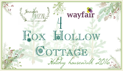 Fox Hollow cottage Housewalk button blank