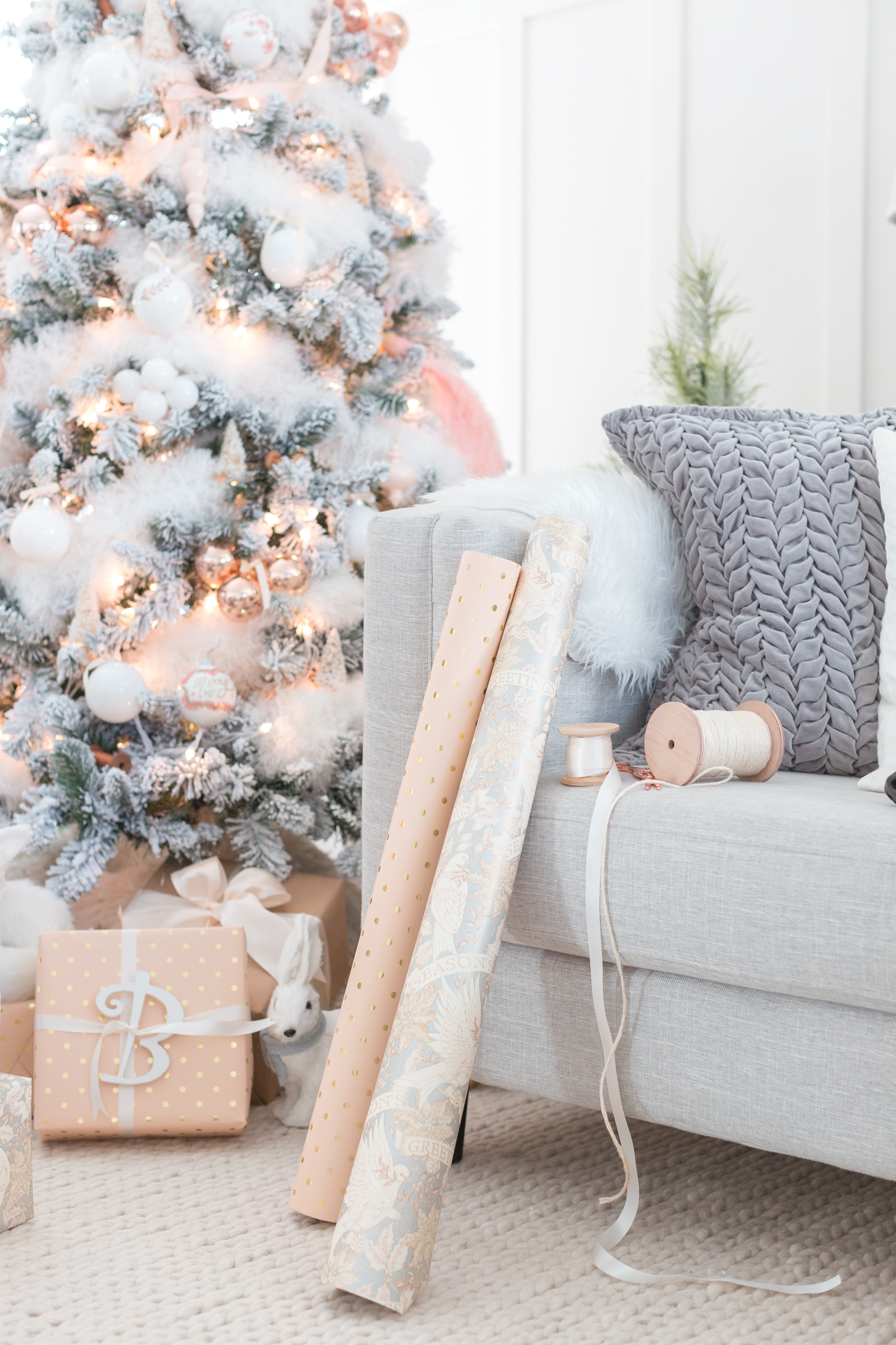 Blush and Copper Christmas Tree
