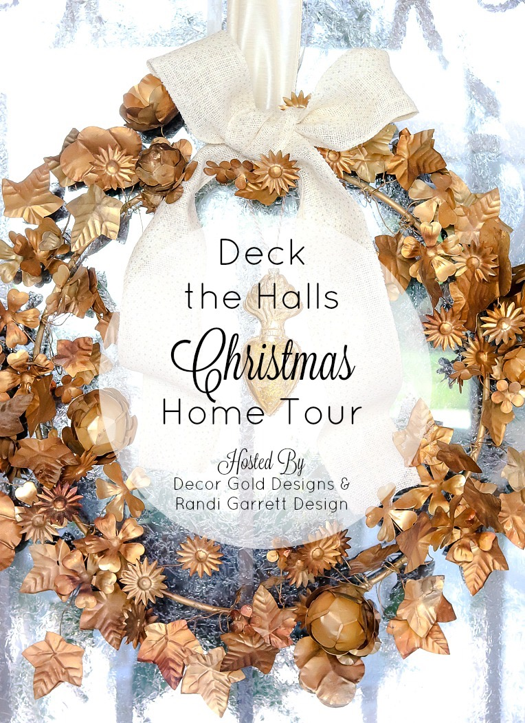 Deck the Halls Christmas Home Tour - Gold Wreath