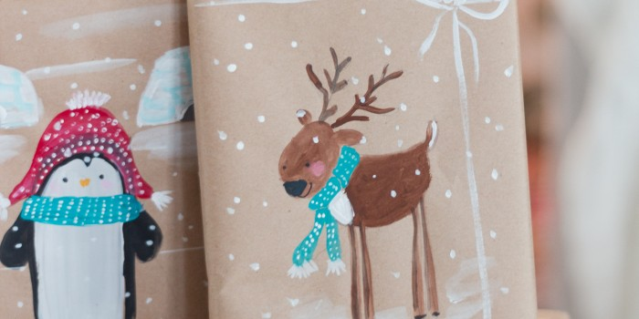 Hand Painted Wrapping Paper