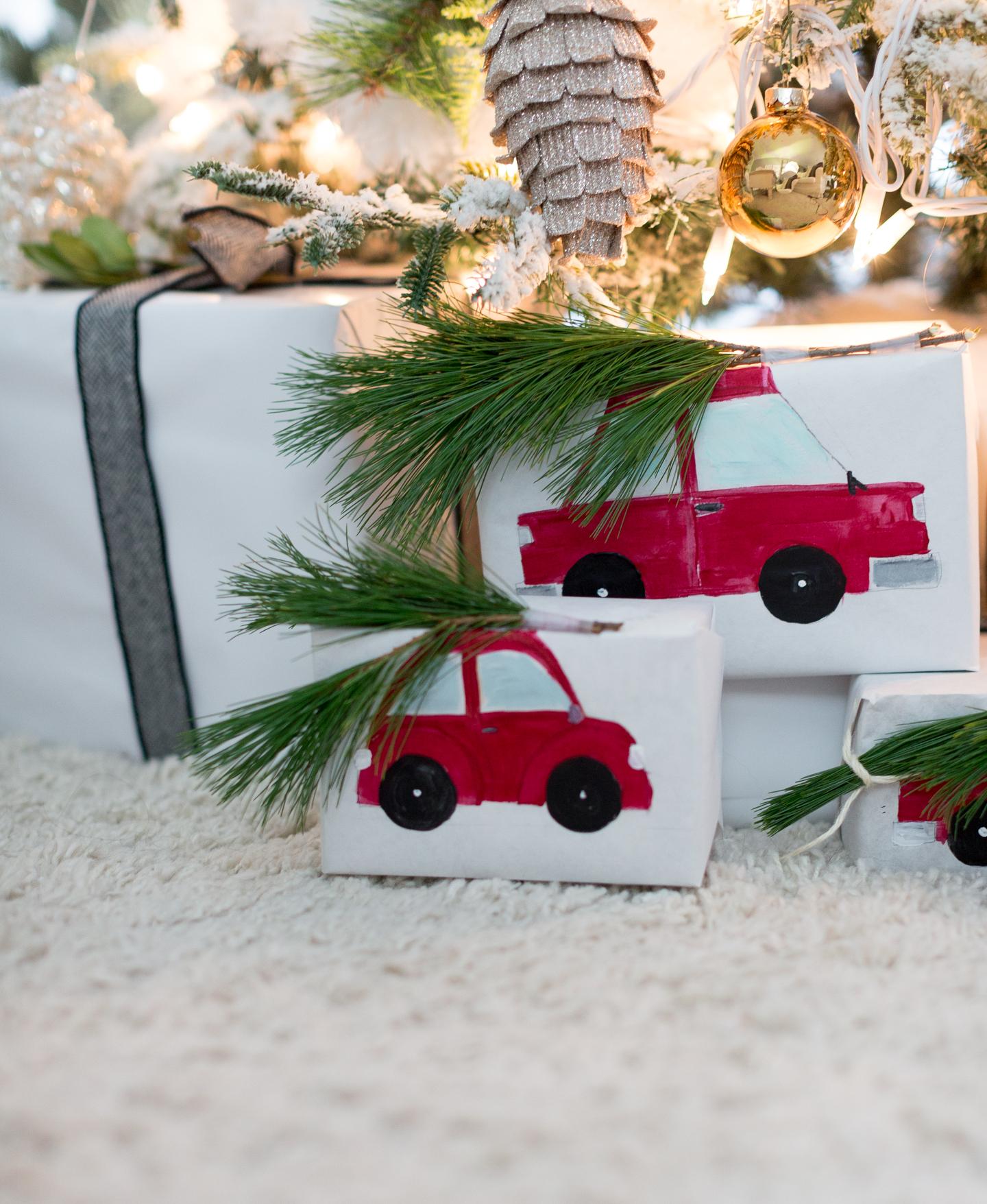 handpainted gift wrap craftberrybush-9