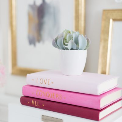 DIY Painted Book Cover