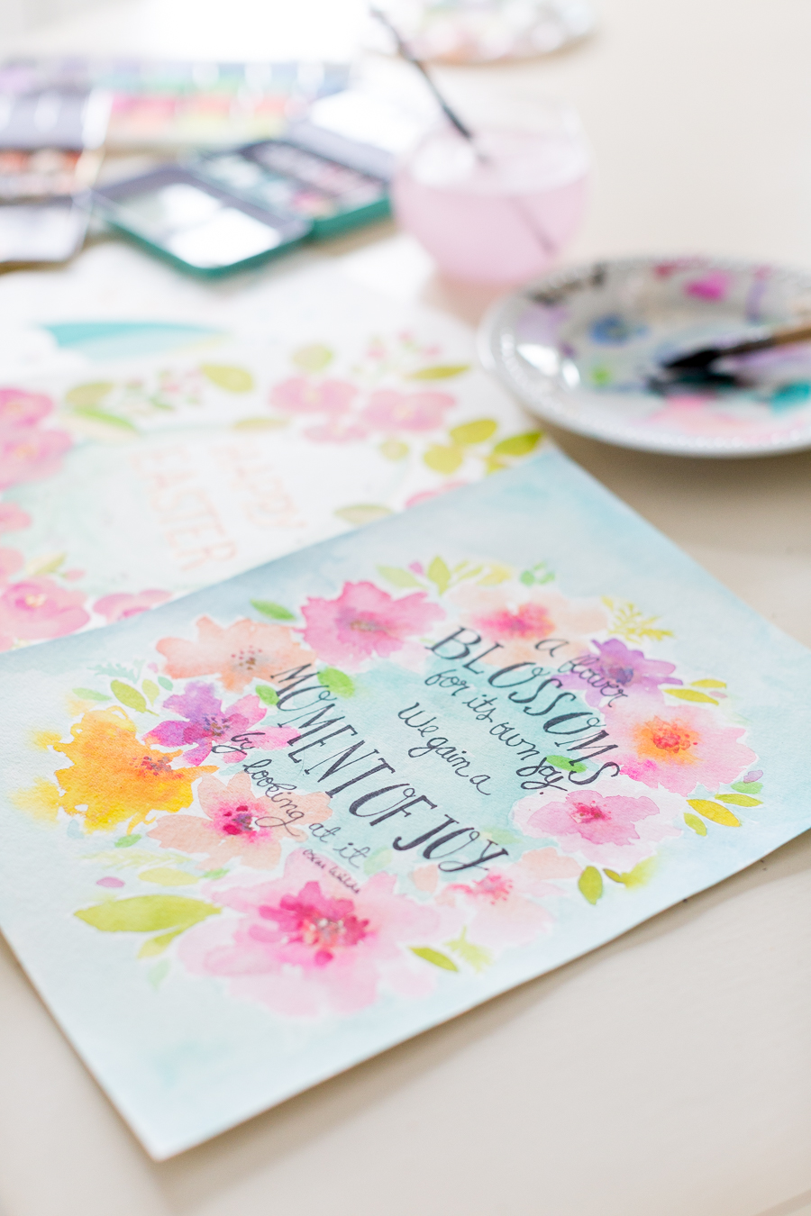 Free Spring watercolor printable craftberrybush-5
