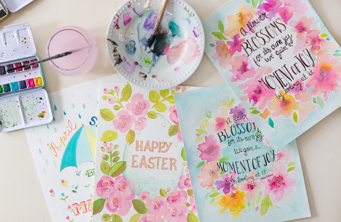 Free Spring watercolor printable craftberrybush-7