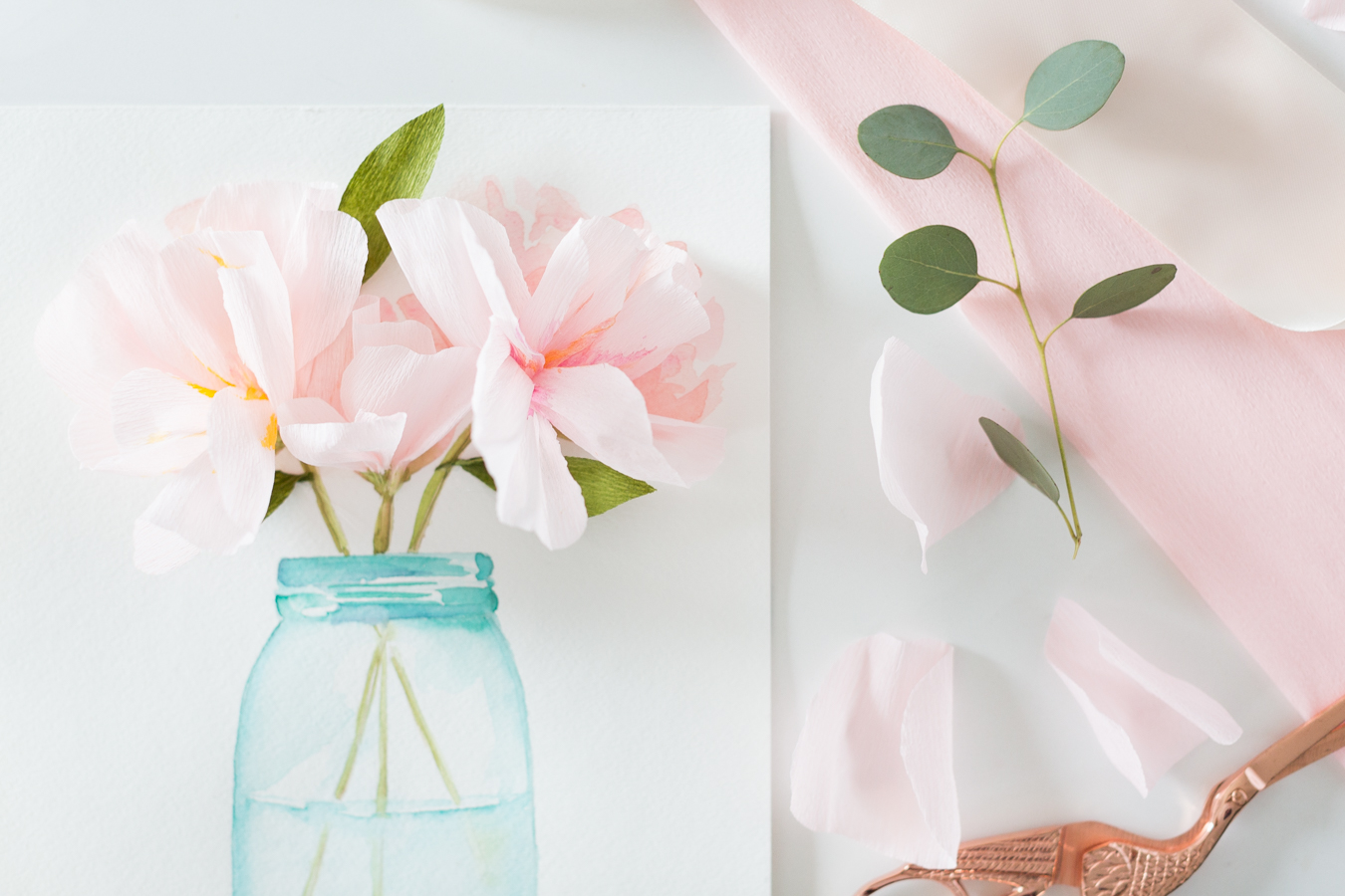 3d paper flower art with free watercolor printable mothersdaycard 3 mightylinksfo