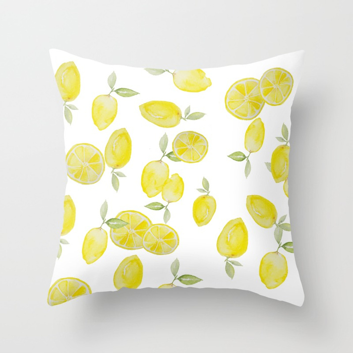 Lemon Print Tea Towel DIY