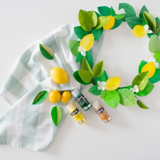 paper lemon wreath diy craftberrybush-20