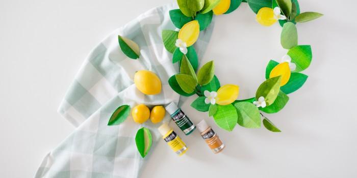 DIY Paper Lemon Wreath