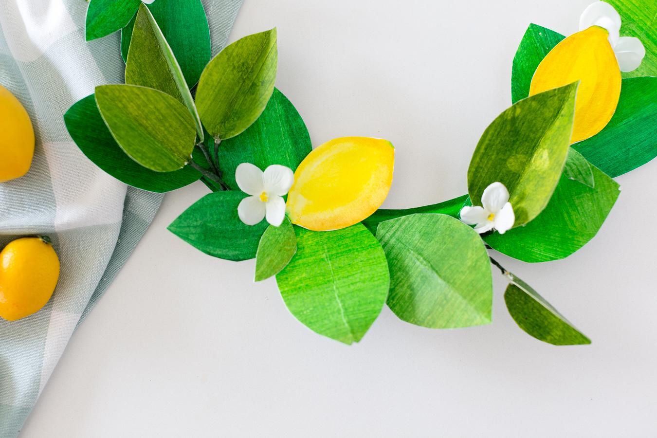 paper lemon wreath diy craftberrybush-24
