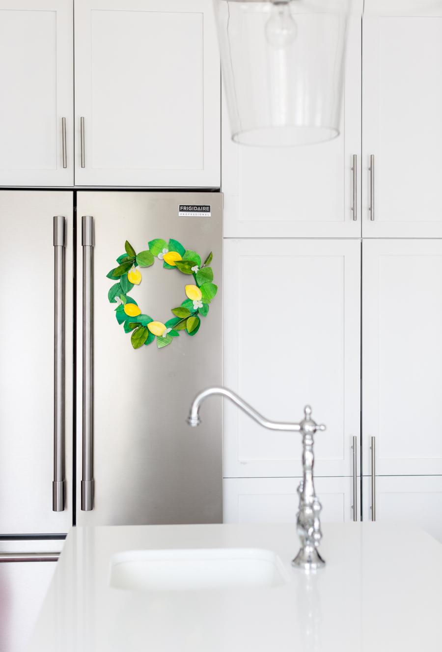 paper lemon wreath diy craftberrybush-27