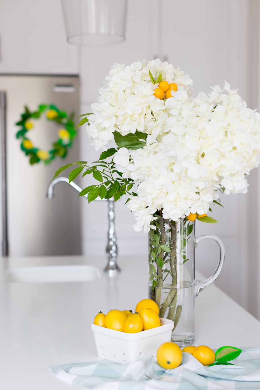paper lemon wreath diy craftberrybush-29