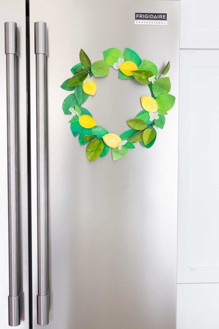 paper lemon wreath diy craftberrybush-32