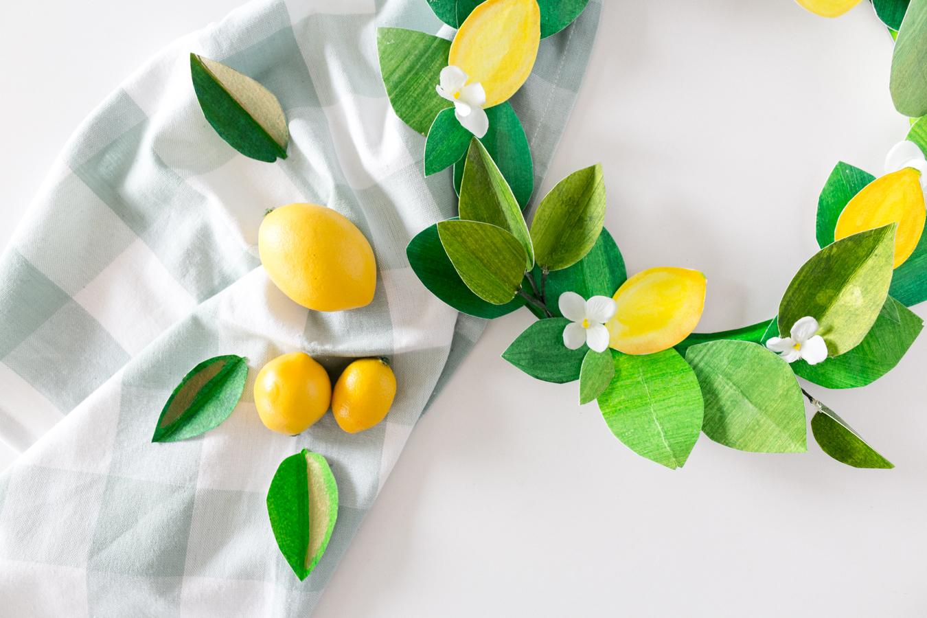 paper lemon wreath diy craftberrybush-33