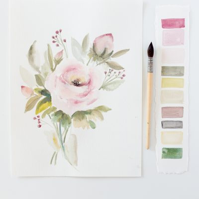 Watercolor Lessons and Free Printable