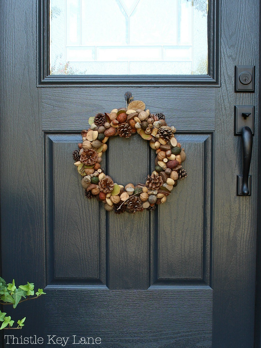 front-door-fall-wreath-brown-green-tan
