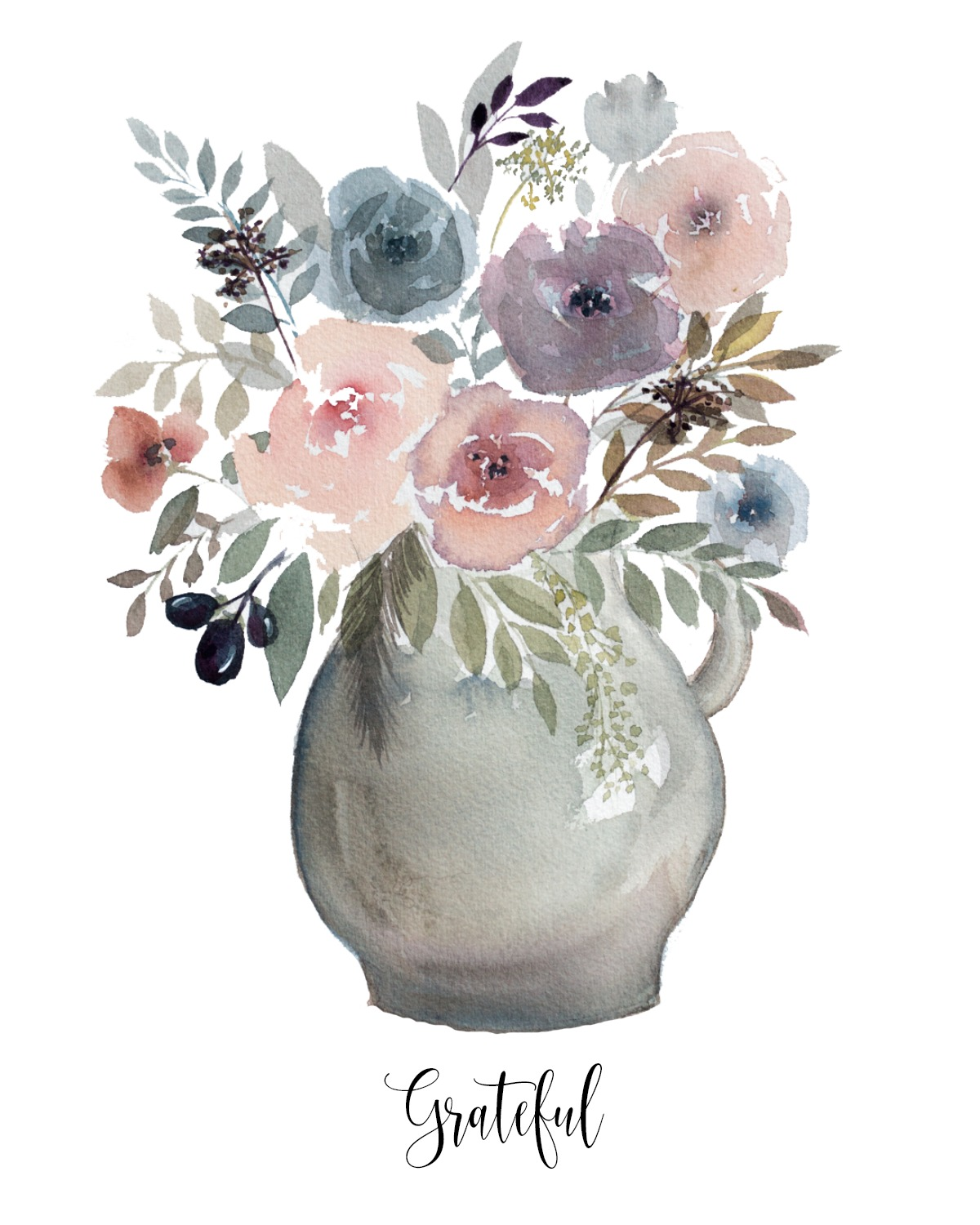 gratefulwatercolorvase