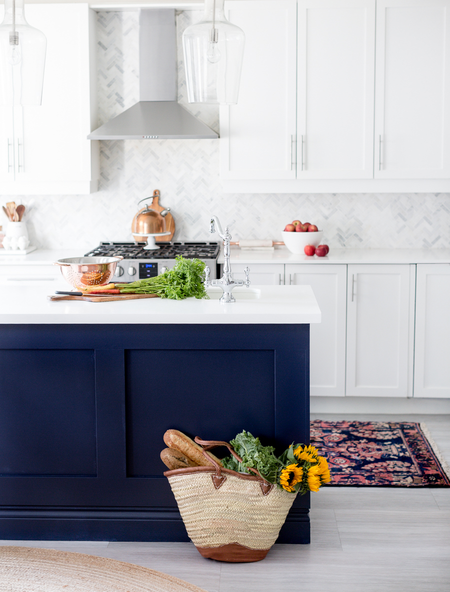 Blue Kitchen Island