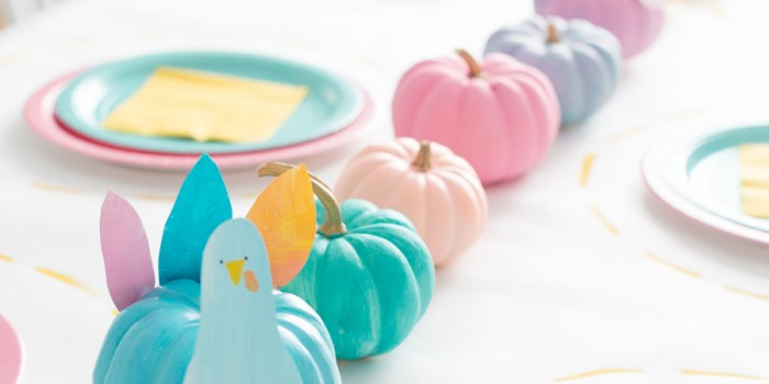 Kid's Colorful Fall Table