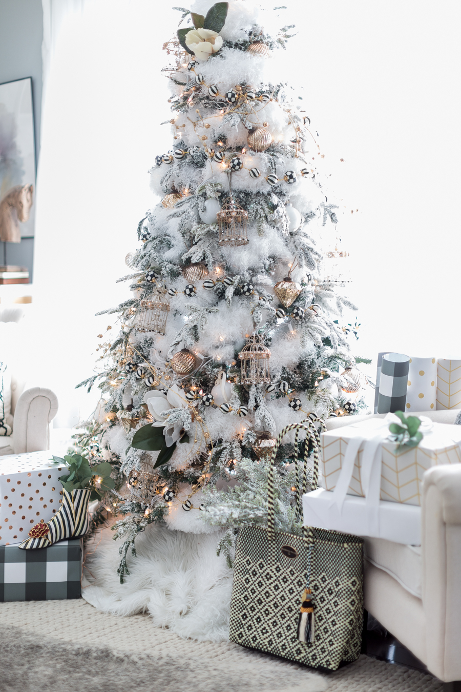Home for Christmas – Black and White Christmas Tree