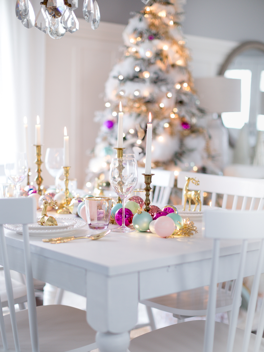 festive christmas table craftberrybush