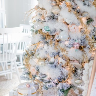 pastel christmas tree craftberrybush_