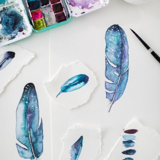 howtopaint a feather_