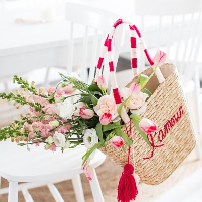 Valentine's Day Straw Tote DIY