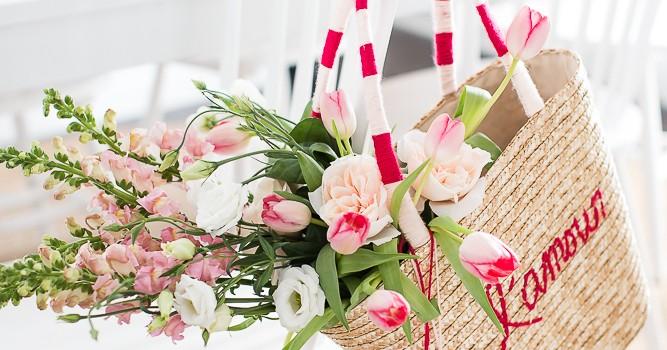 Valentine's Day Straw Tote DIY